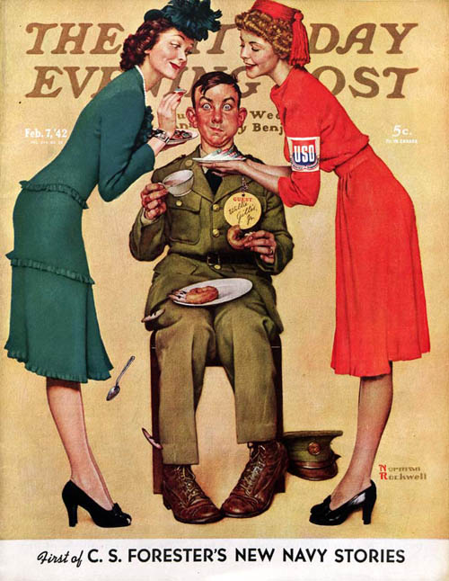 "Norman Rockwell ""Willie Gillis at the U.S.O."" February 7, 1942"