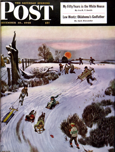 Sledding by SunsetJohn FalterDecember 18, 1948