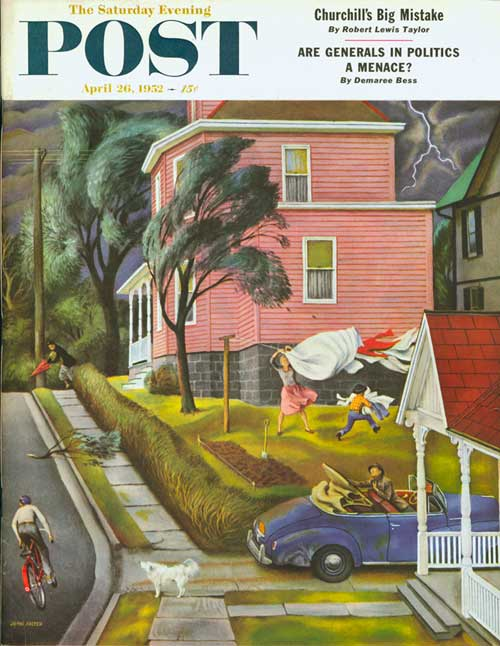 Spring Storm Blowing In – John Falter, 4/26/52