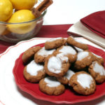 Gingersnaps with Lemon Icing
