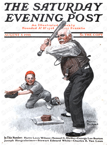 The Saturday Evening Post Cover, August 5, 1916 Norman Rockwell