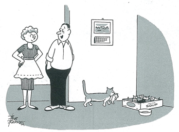 Kittens cartoon from December 7, 1959 Saturday Evening Post Issue