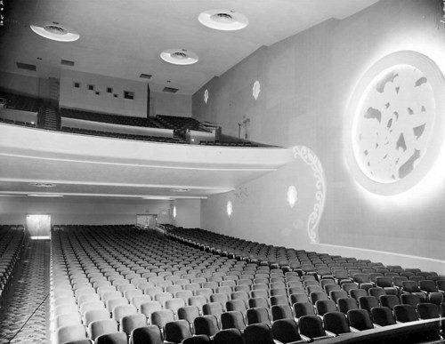 The interior of a theater.