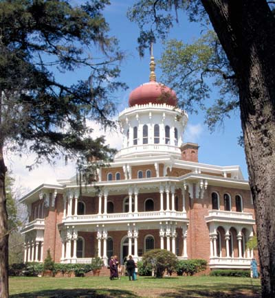 An Antebellum-era mansion.