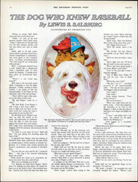 """The Dog Who Knew Baseball""<br />Lewis s. Salsburg<br />Fall 1971"