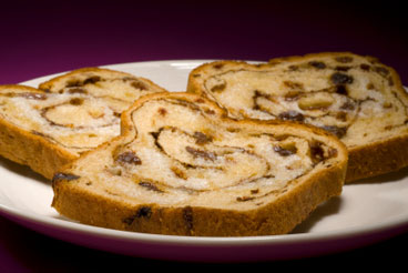 Cinnamon-raisin bread. Not mine, however.