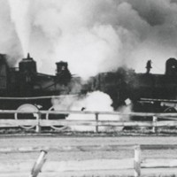 Two trains rigged to collide at the 1934 Minnesota State FairCourtesy J.C. Allen & Son, Inc.
