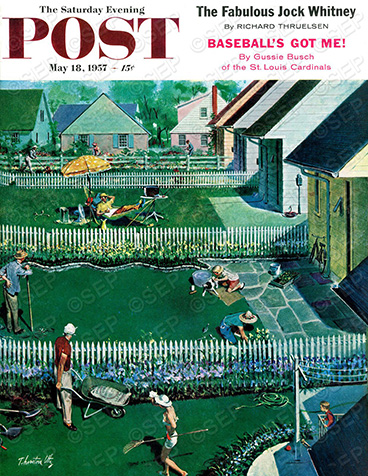 Spring Yardwork Thornton Utz May 18, 1957