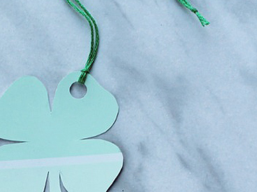 shamrock paint-chip bookmark
