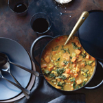 Terry Walters's Sweet Potato, Corn, and Kale Chowder
