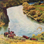 Yakima River Cattle Roundup by John Clymer May 10, 1958