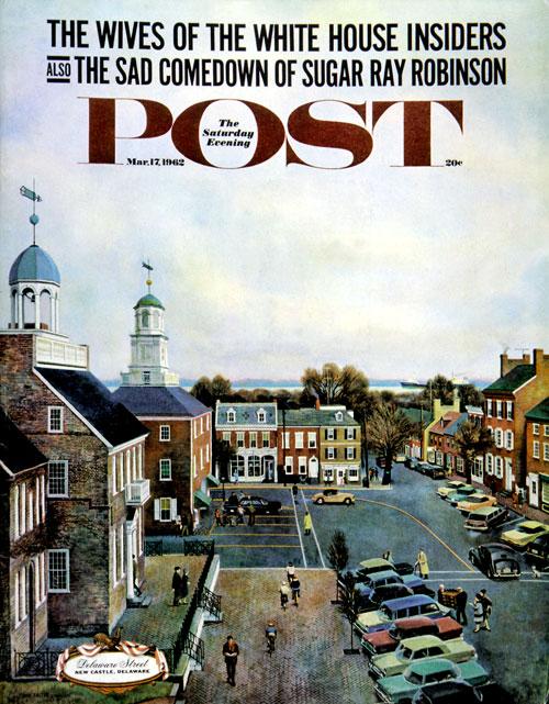 Town Square, New Castle, Delaware by John Falter