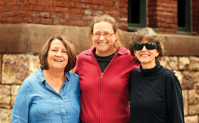 Roberta MacDonald (left), Abbey Duke (center), and Rita Markley