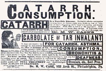 Dr. M.W. Case Consumption Cure advertisement