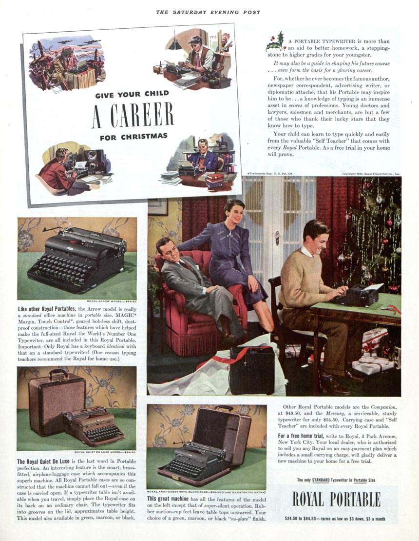 Vintage Ads: Popular Presents from the 1940s | The Saturday