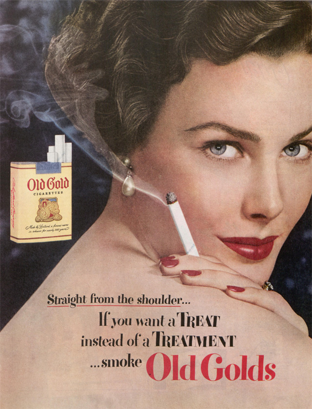 Woman with a lit cigarette