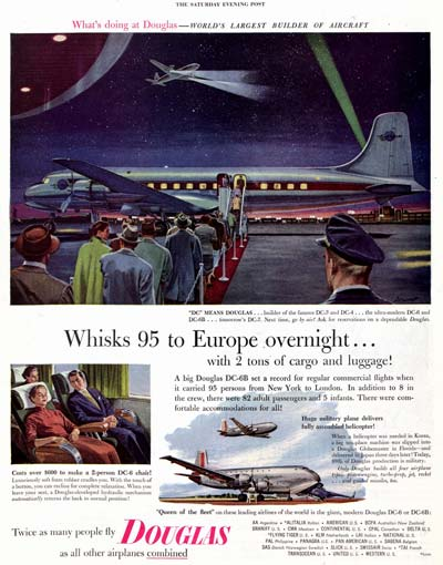 1953 advertisement for Douglas Airplane