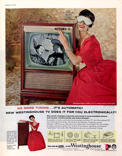 1958 advertisement for Westinghouse