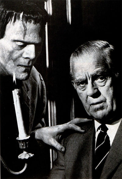 Boris Karloff and his monster