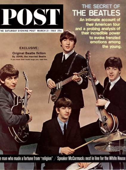 Cover for the Saturday Evening Post, featuring The Beatles