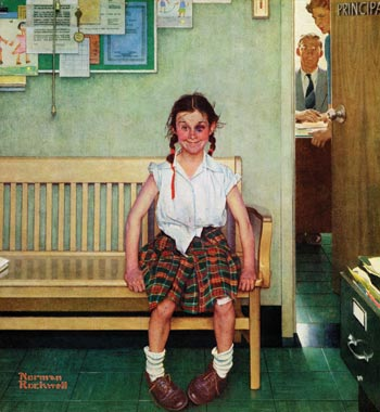 The Shiner by Norman Rockwell