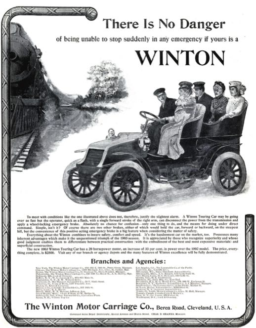 Winton ad from 1903