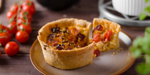 Quiche on a plate