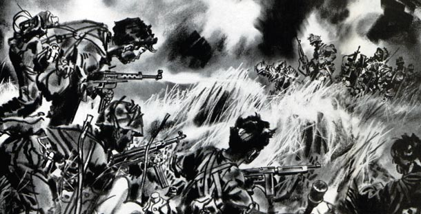 American G.I.s fight Viet Cong