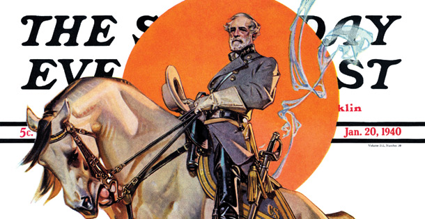 Robert E. Lee on his horse, Traveler.