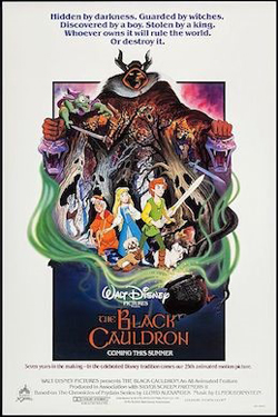 Movie poster for The Black Cauldron