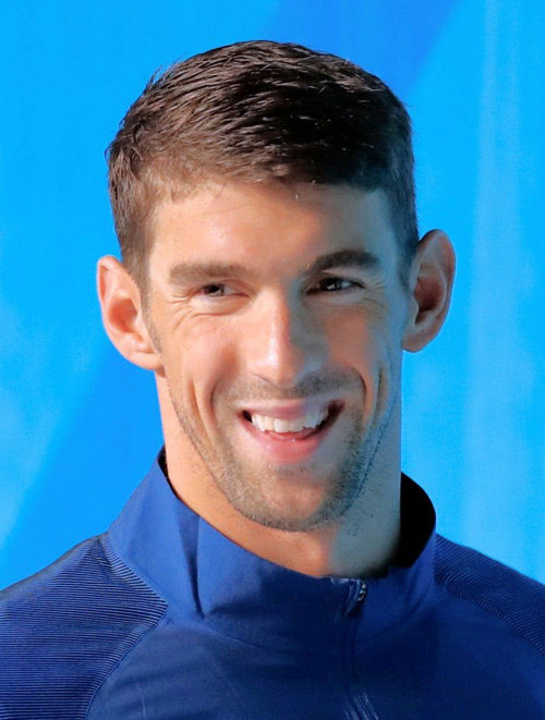 Michael Phelps smiling