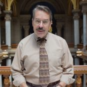 Post archivist Jeff Nilsson in the Illinois state capitol
