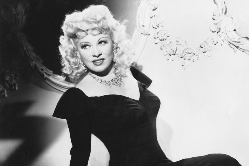 A young Mae West in a dress