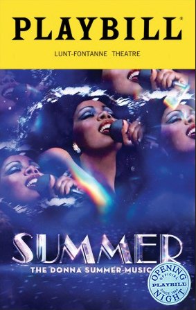 "Issue of Playbill featuring the musical ""Summer"" on its cover"