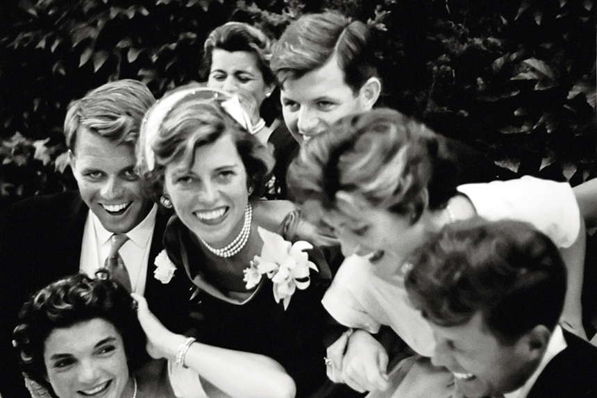 The Kennedys at a wedding