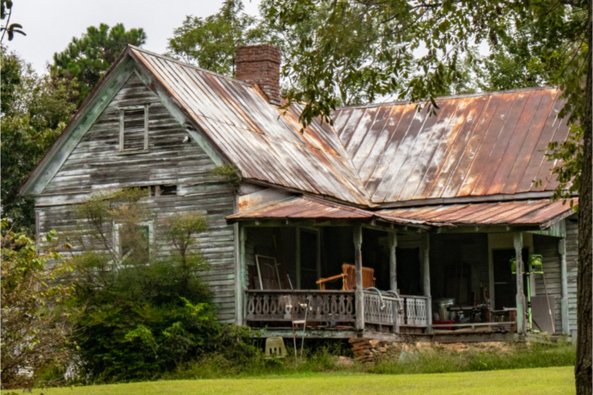 Old, abandoned farmhouse