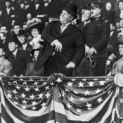 President Taft throwing the first pitch of a baseball game