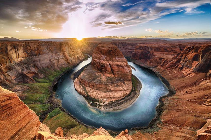 River running through the Grand Canyon
