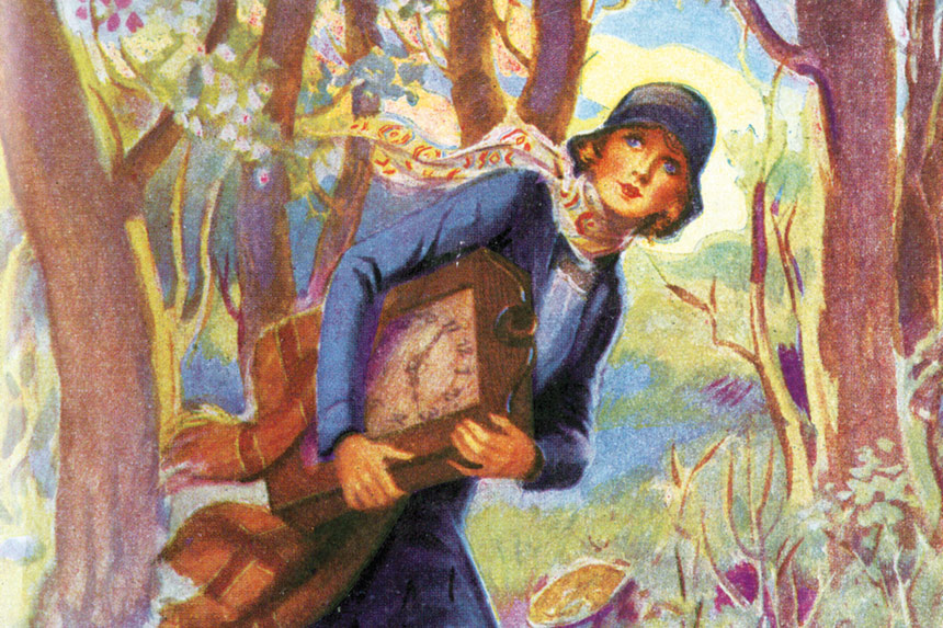 Cover for the Nancy Drew novel, The Secret of the Old Clock, by Carolyn Keene