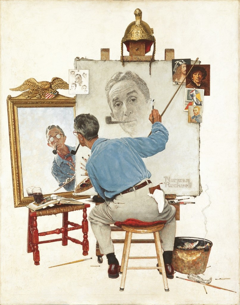 Norman Rockwell paints his own portrait