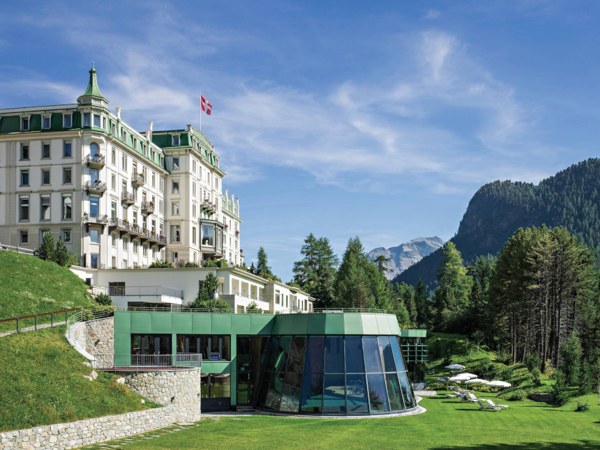 A view of the Grand Hotel Kronenhof