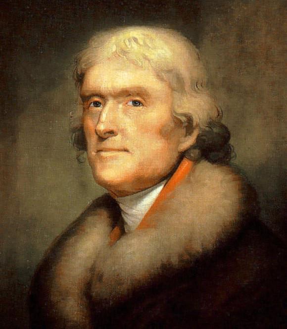 A portrait of Thomas Jefferson by Rembrandt Peale