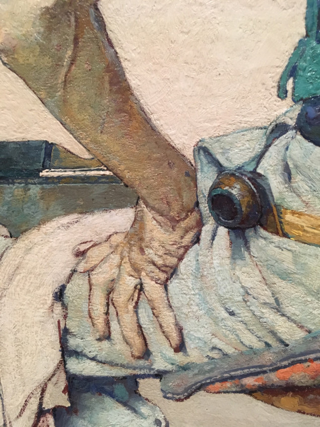Norman Rockwell's hand, painted on one of his covers.