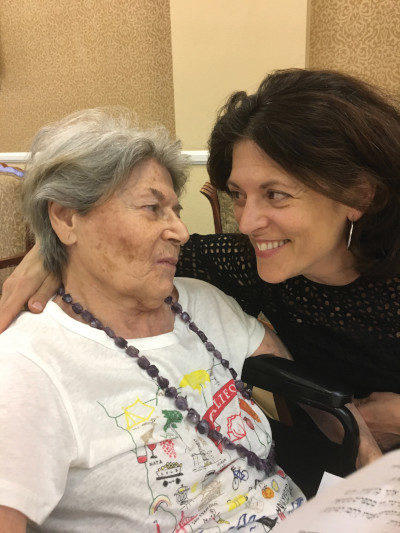 Dani Klein Modisett with her mother.