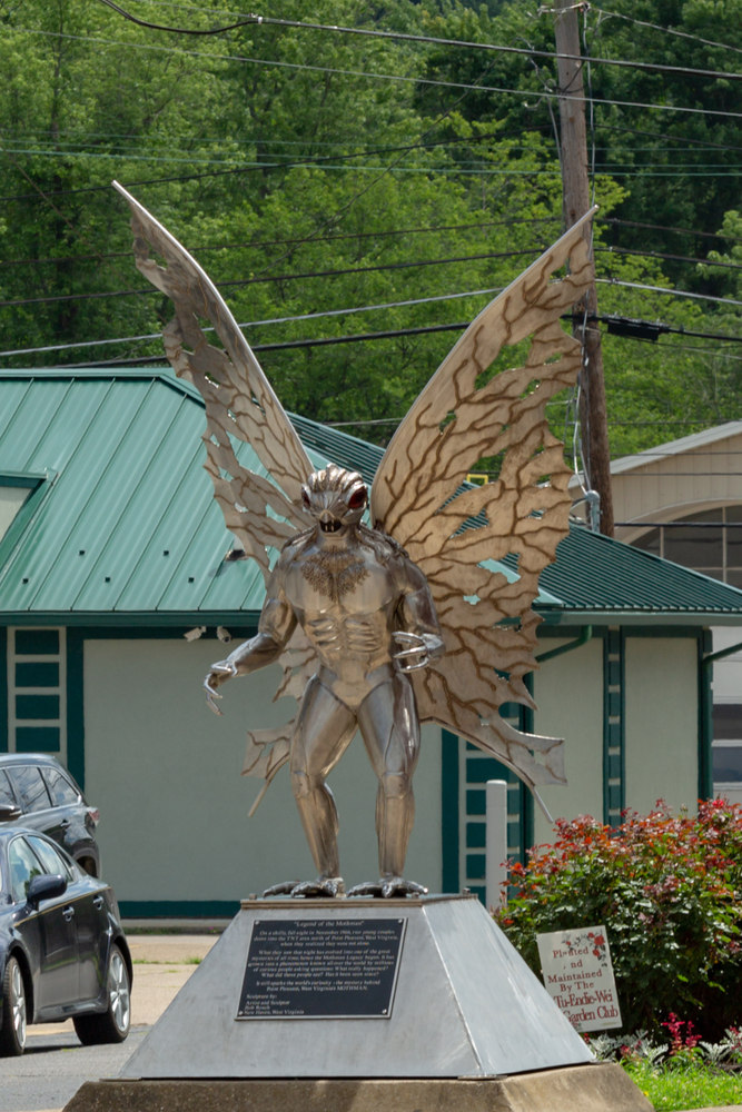 Statue of the Mothman monster