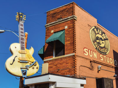 The outside of Sun Studios