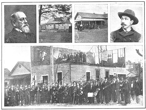 Photos and portraits of white supremacists in Wilmington, North Carolina in the late 1800s