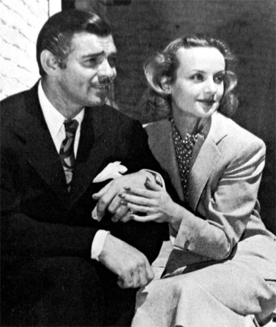 Photo of Clark Gable and Carole Lombard during their honeymoon