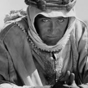 Actor Peter O'Toole in full costume as Lawrence of Arabia