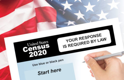 A U.S. Census form with the notice: YOUR RESPONSE IS REQUIRED BY LAW